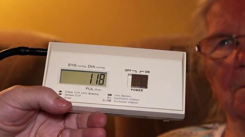 Electronic meter measuring blood pressure - timelapse Footage