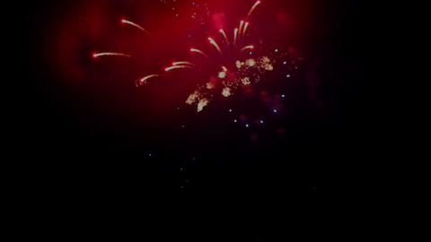 Fireworks display against the dark sky Footage