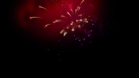 Fireworks display against the dark sky Footage