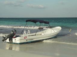 tulum paradise beach mexico caribbean boat Footage