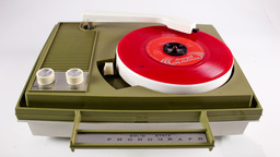 portable vintage record player Footage