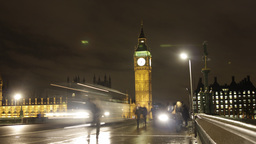 westminster bridge big ben parliament london uk Footage