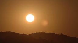 golden sunrise over the coast Footage