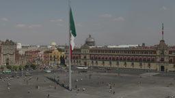 zocalo mexico city df flag Footage