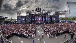 crowds japan event entertainment stage music dj Footage