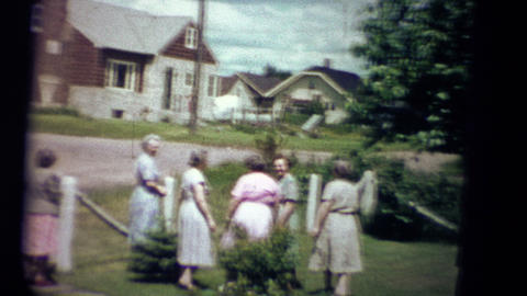 (1950s 8mm Vintage) Sunday Church Small Town America Footage
