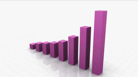 Growing Bar Graph / Chart stock footage