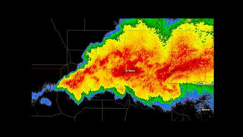 *LOOP* 2013 El Rino, Oklahoma Tornado Weather Radar Animation