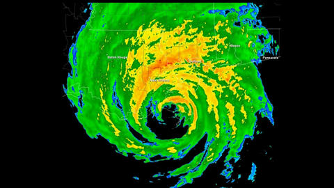 *LOOP* Hurricane Katrina (2005) Landfall Time Lapse Animation