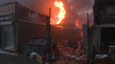 Fire Blaze Out Of Control Typhoon Haiyan Aftermath Tacloban Footage