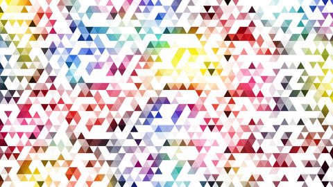 Geometry003 Triangle Colorful White stock footage