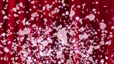 Rose Petals neon Pink fountain A 4 K Animation