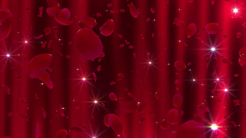 Rose Petals neon Red Aw 4 K CG動画