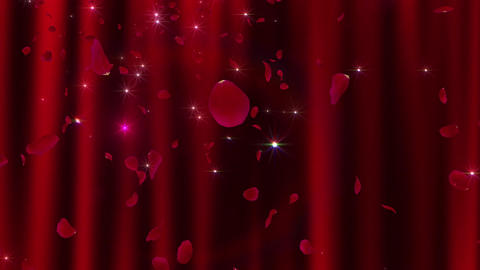Rose Petals neon Red Ja 4 K, Stock Animation