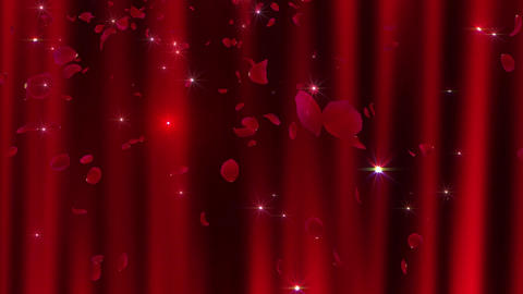 Rose Petals neon Red Ja 4 K 애니메이션