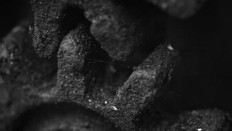 Old rusty gears closeup Footage
