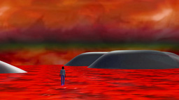 Animation - Walking The Edge Of Hell stock footage