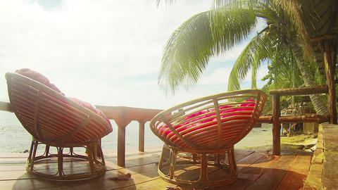 Comfy Resting Place Overlooking the Sihanoukville Beach Footage