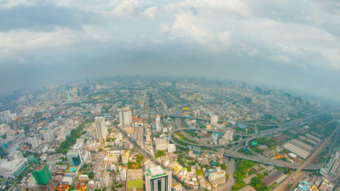 Video - Panoramic view of the big city. Bird's-eye view. Bangkok Footage