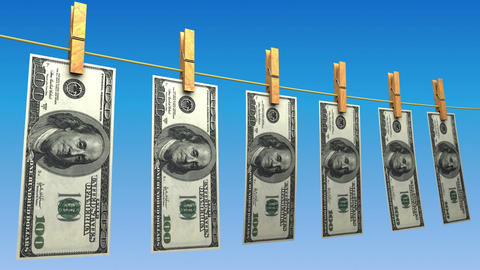 Drying Dollars (Loop) Animation