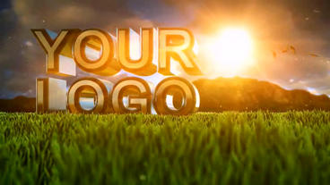 Logo 3 D In Nature ll ( Sunset ) Template After Effect