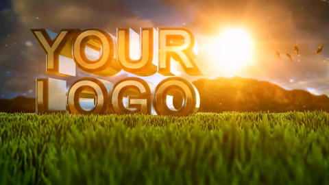 Logo 3 D In Nature ll ( Sunset ) After Effects Template