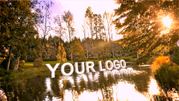Logo 3 D On River stock footage