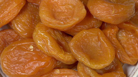 Bright Dried Apricots HD Footage