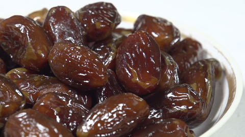 Dates on the Plate HD Stock Video Footage