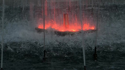 Fountain With Changing Colors stock footage