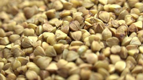 High Resolution Macro Of Dry Buckwheat Grain. Dolly Shot. 4K UltraHD, UHD stock footage