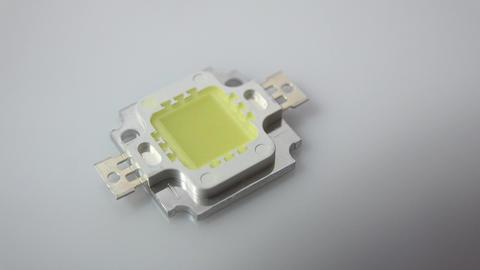 Single Super Bright Led Light 10W Zooming . 4K UltraHD, UHD stock footage