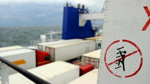 warning sign Footage