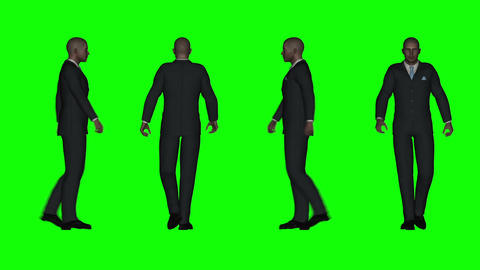 Walking Business Man (Green Screen) Animation