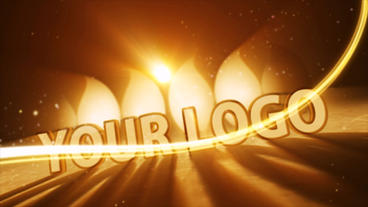 Candle Light Logo Reveal stock footage