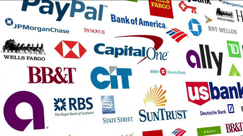 *REVERSE* Banking Brands Logo Loop Animation