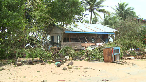Hurricane Storm Surge Damage To Building Footage