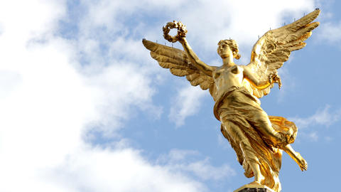 """Time-lapse full body to monument called """"Independence Angel"""" Footage"""