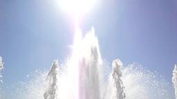Fountain against the sun (loop) Footage