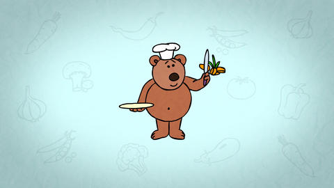Teddy Bear Chef stock footage