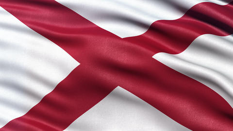 4K Alabama state flag seamless loop Ultra-HD Animation