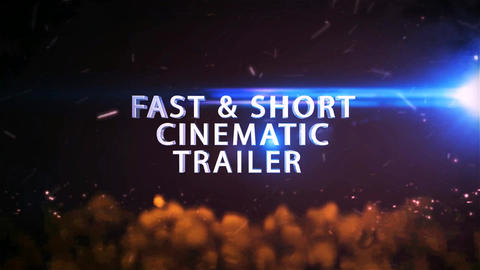 Fast and Short Cinematic Trailer After Effects Template