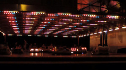 Bumper Cars By Night stock footage