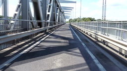 Crossing a long bridge Footage