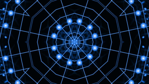 Particle Kaleido Loop Hd 5 stock footage