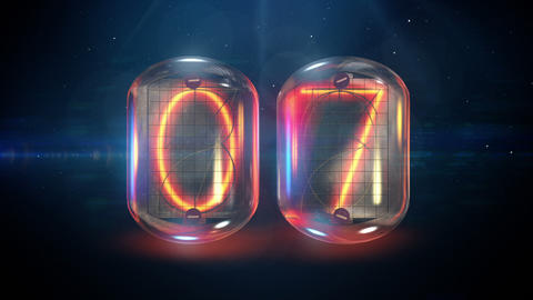 Nixie tube countdown Animation