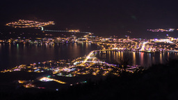 Night view of Osoyoos in British Columbia Footage