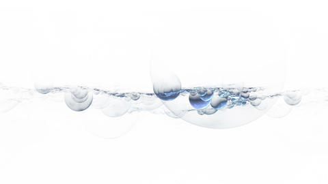 Foam And Blue Bubbles Floating Animation