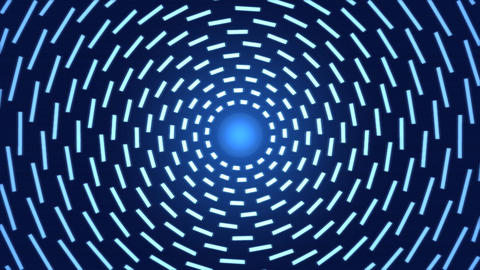 Rotating Lines of Light Animation - Loop Blue Animation