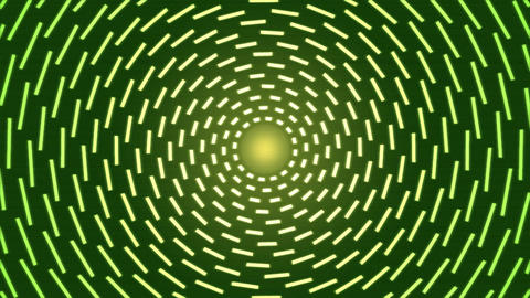 Rotating Lines of Light Animation - Loop Green Animation